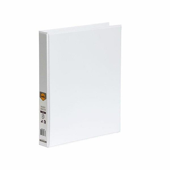 Marbig Clearview Insert Binder A4 25mm 4d White X CARTON of 20 5404008B