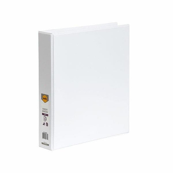 Marbig Clearview Insert Binder A4 38mm 3d White X CARTON of 12 5413008B
