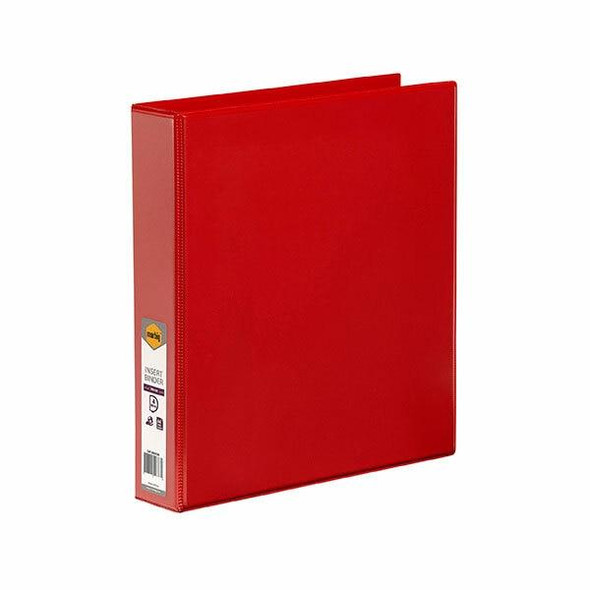 Marbig Clearview Insert Binder A4 38mm 4d Red X CARTON of 12 5414003B