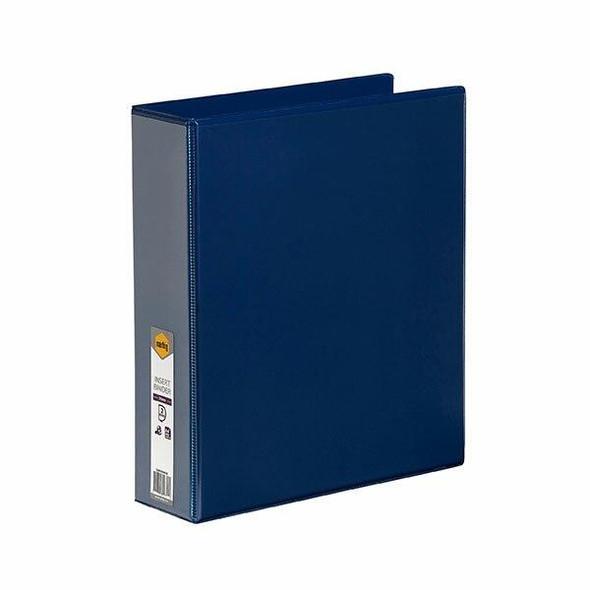 Marbig Clearview Insert Binder A4 50mm 2d Blue X CARTON of 12 5422001B