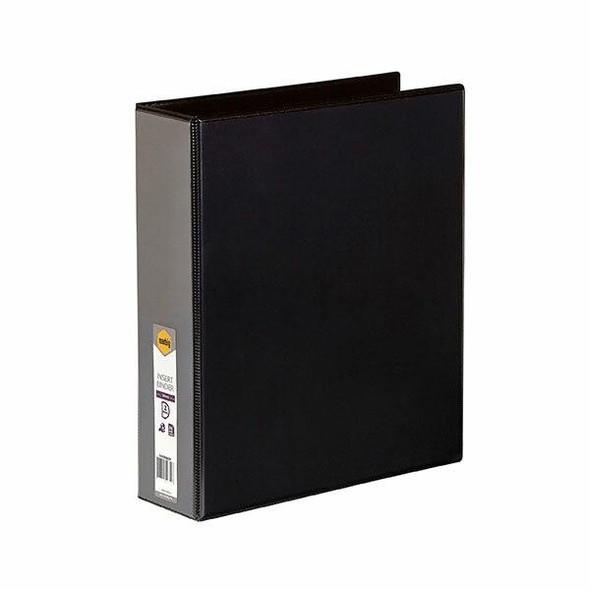Marbig Clearview Insert Binder A4 50mm 2d Black X CARTON of 12 5422002B