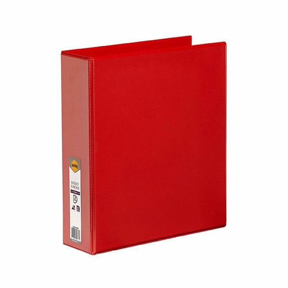 Marbig Clearview Insert Binder A4 50mm 2d Red X CARTON of 12 5422003B