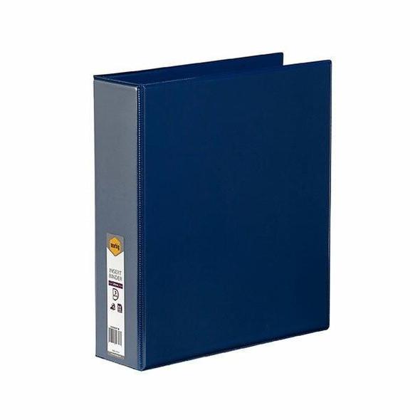 Marbig Clearview Insert Binder A4 50mm 3d Blue X CARTON of 12 5423001B