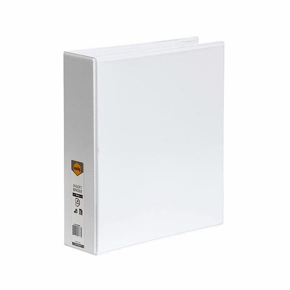 Marbig Clearview Insert Binder A4 50mm 4d White X CARTON of 12 5424008B