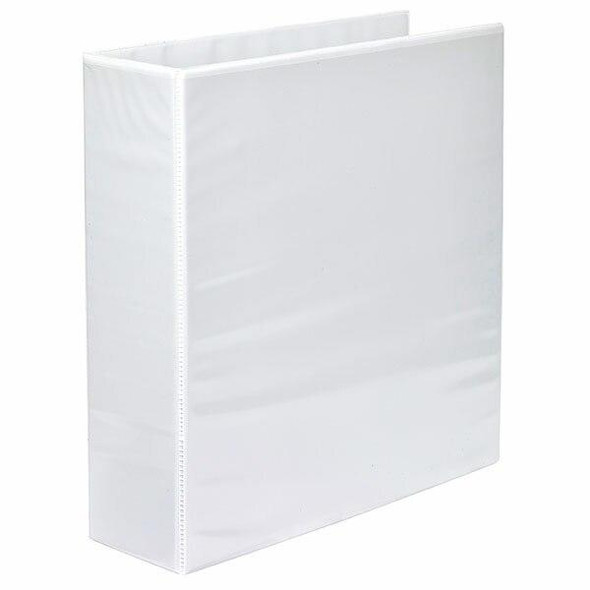 Marbig Clearview Insert Binder A4 65mm 2d White X CARTON of 15 5426508