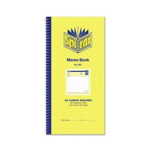Spirax 551 Memo Book 279x144mm X CARTON of 10 55228