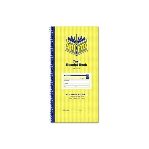 Spirax 553 Cash Receipt Book 279x144mm X CARTON of 10 55230
