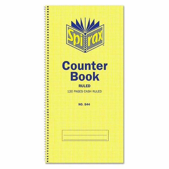Spirax 544 Counter Book Cash Ruled 297x135mm 120 Page X CARTON of 10 55234
