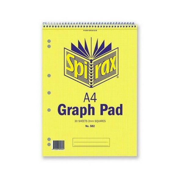 Spirax 582 Graph Book 2mm A4 30 LeAnti-Fatigue X CARTON of 10 55236