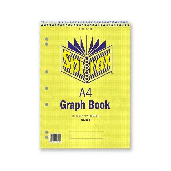 Spirax 585 Graph Book 5mm A4 30 LeAnti-Fatigue X CARTON of 10 55237