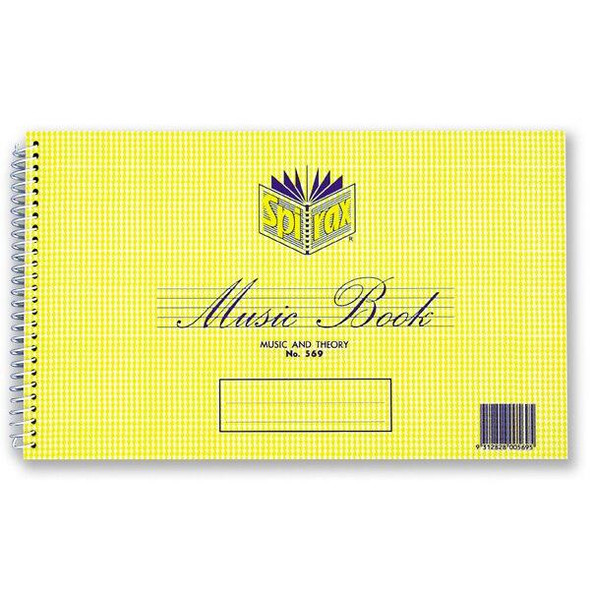 Spirax 569 Music and Theory Book 152x248mm 18 Leaf/ 36 Page X CARTON of 20 55240