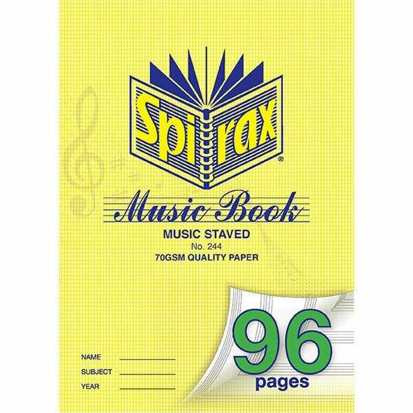 Spirax 244 Music Book A4 96page X CARTON of 10 55244