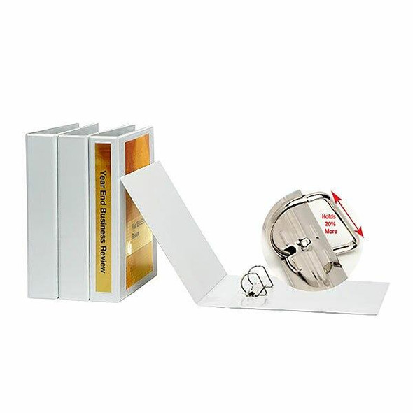 Marbig Clearview Insert Binder Hi-Cap 65mm 2d White X CARTON of 15 5526508