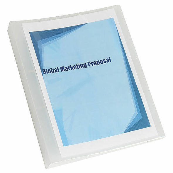 Marbig Clearview Insert Binder With Pocket A4 25mm 2d Clear X CARTON of 12 5602012