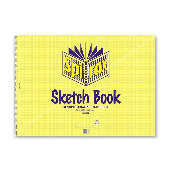 Spirax 532 Sketch Book A2 422x594mm 20 Leaf/40 Page X CARTON of 5 56041