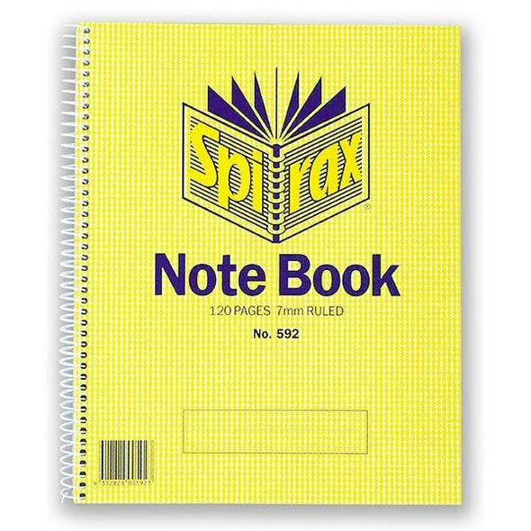 Spirax 592 Notebook 222x178mm 120 Page S/O X CARTON of 10 56055
