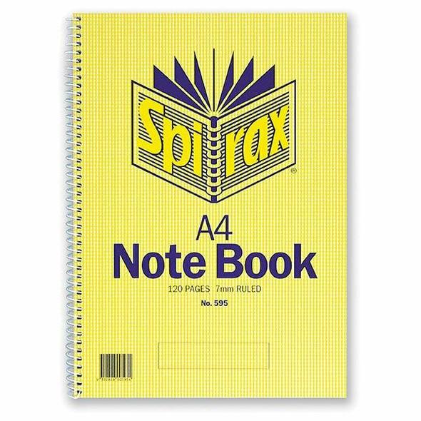 Spirax 595 Notebook A4 120 Page S/O X CARTON of 10 56058