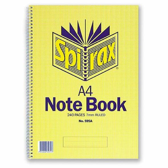 Spirax 595a Notebook A4 240 Page S/O X CARTON of 5 56059