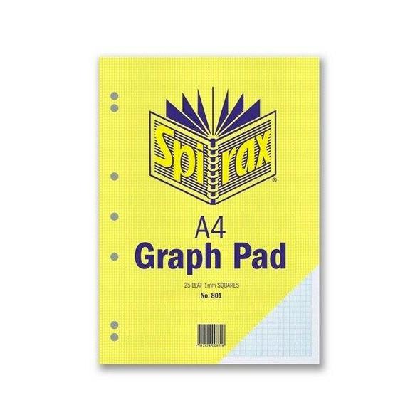 Spirax 801 Graph Pad 1mm A4 25 LeAnti-Fatigue X CARTON of 10 56082