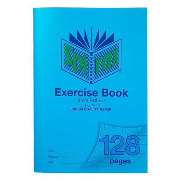 Spirax P110 Exercise Book A4 8mm 128page X CARTON of 10 56110P