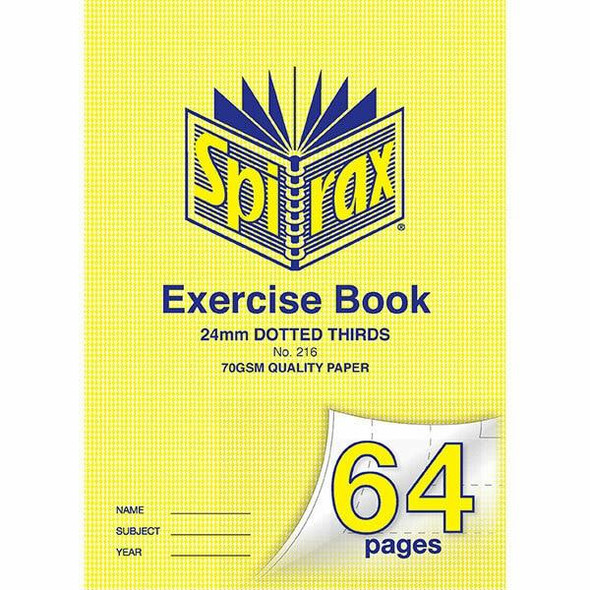 Spirax 216 Exercise Book A4 24mm Dt 64page X CARTON of 20 56216