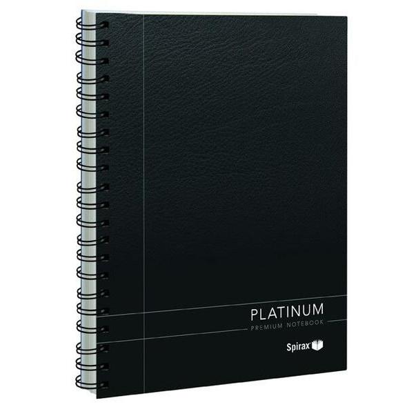 Spirax 400 Platinum Notebook A4 200 Page Black X CARTON of 5 56400