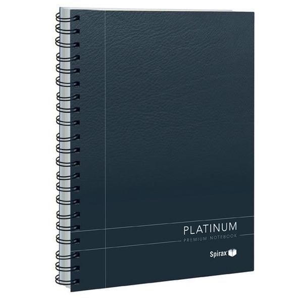 Spirax 401 Platinum Notebook A5 200 Page Black X CARTON of 5 56401