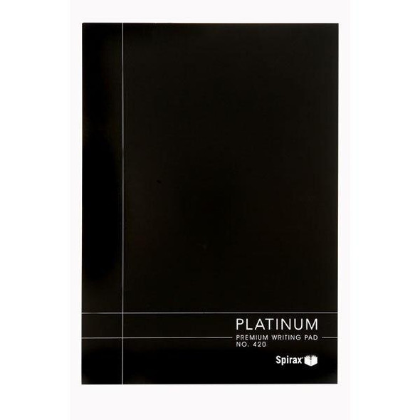 Spirax 420 Writing Pad Platinum - White A4 100 Page X CARTON of 5 56420