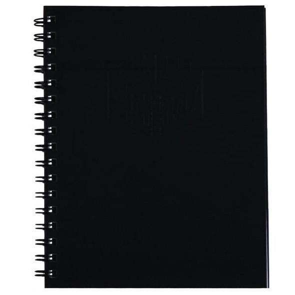 Spirax 511 Hard Cover Book 225x175mm 200 Page Black X CARTON of 5 56511BK