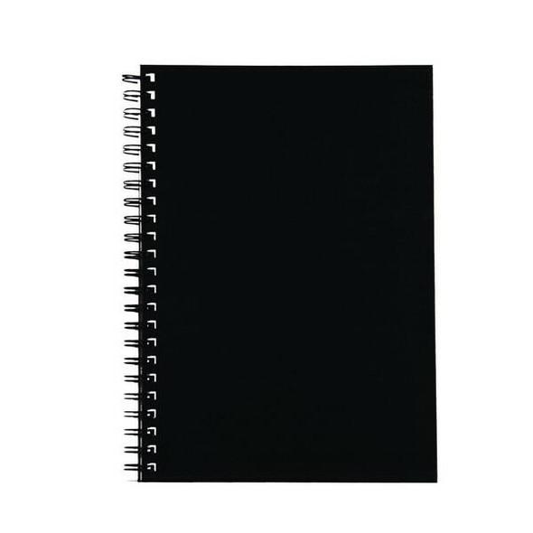Spirax 512 Hard Cover Book A4 200 Page Black X CARTON of 5 56512BK