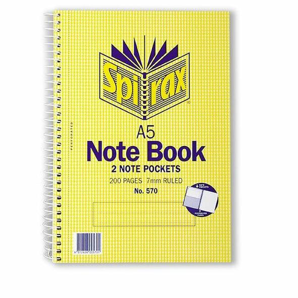 Spirax 570 Notebook A5 200 Page S/O X CARTON of 5 56570