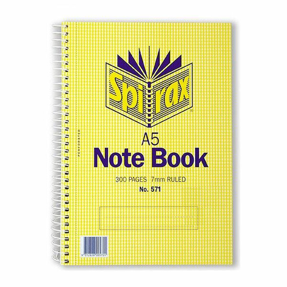 Spirax 571 Notebook A5 300 Page S/O X CARTON of 5 56571