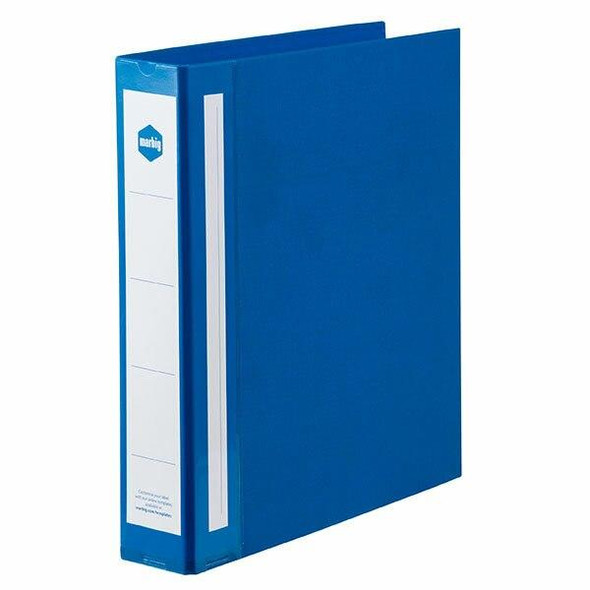 Marbig Ring Binder Deluxe A4 38mm 4d Pe Blue X CARTON of 12 5904001