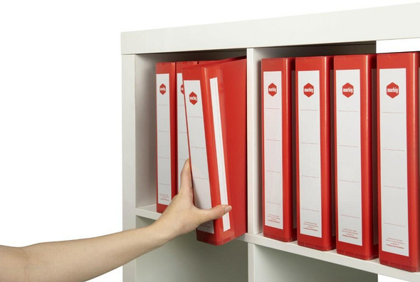 Marbig Ring Binder Deluxe A4 38mm 4d Pe Red X CARTON of 12 5904003