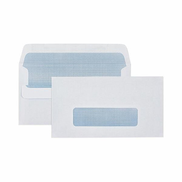 CUMBERLAND Self Seal Secretive Envelope 80gsm 11b 90 X 145mm White Box500 601214