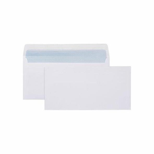 CUMBERLAND Strip Seal Plain Secretive Envelope 80gsm Dl 110 X 220mm White 603313