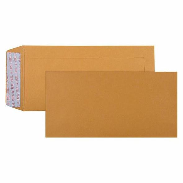 CUMBERLAND Strip Seal Pocket Envelope 85gsm Dl 220 X 110mm Gold Box50 603322