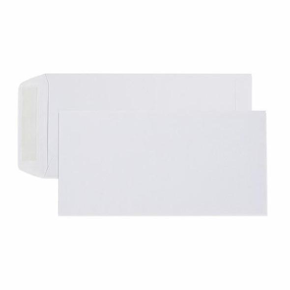 CUMBERLAND Strip Seal Pocket Envelope 80gsm Dl 220 X 110mm White Box5 603331