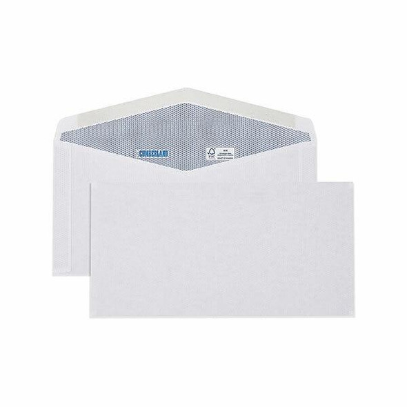 CUMBERLAND Plain Envelope 90gsm Dlx 120 X 235mm White 6051113