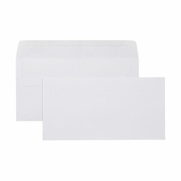 CUMBERLAND Self Seal Plain Envelope 80gsm Dlx 120 X 235mm White Box500 605211