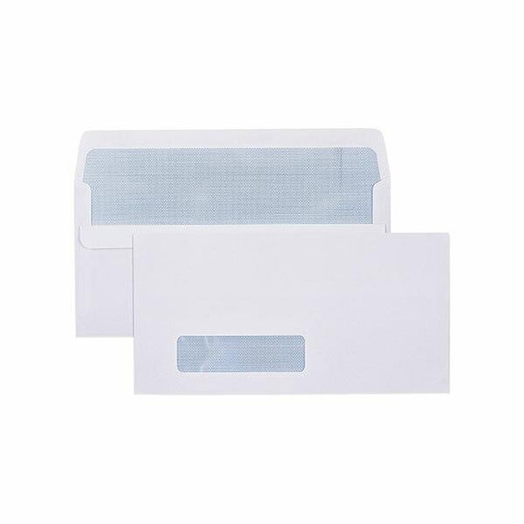 CUMBERLAND Self Seal Secretive Envelope 80gsm Dlx 120 X 235mm White Box500 605214