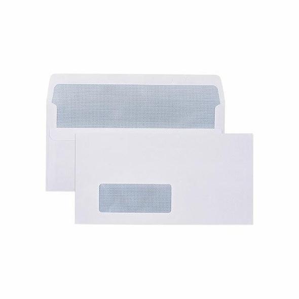 CUMBERLAND Secretive Envelope 80gsm Dlx 120 X 235mm White Box500 605215