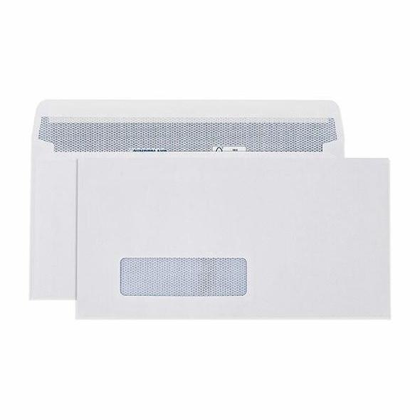 CUMBERLAND Window Envelope 90gsm Dlx 120 X 235mm White 6053111
