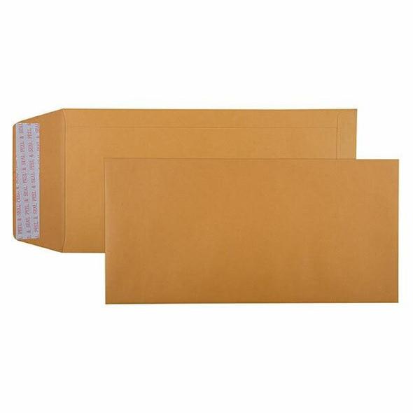 CUMBERLAND Strip Seal Pocket Envelope 85gsm 305 X 150mm Gold Box250 610322