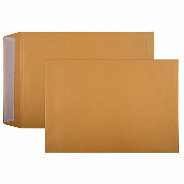 CUMBERLAND Strip Seal Pocket Envelope 100gsm C4 324 X 229mm Gold Box250 612329
