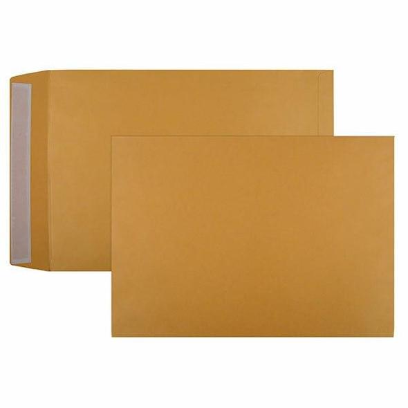 CUMBERLAND Strip Seal Pocket Envelope 100gsm B4 353x250mm Gold Box250 613329