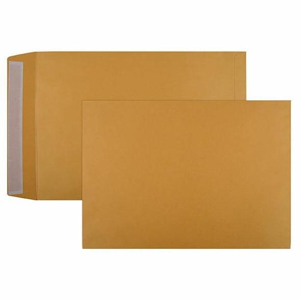 CUMBERLAND Strip Seal Pocket Envelope 100gsm 380 X 255mm Gold Box250 614329