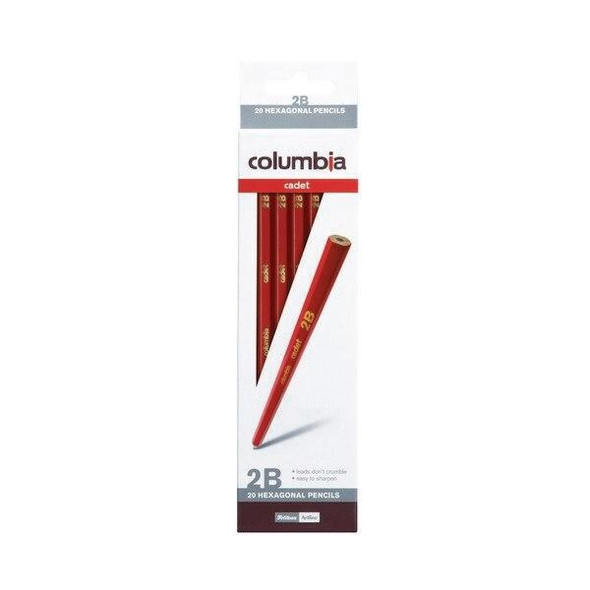 columbia Cadet Lead Pencil Hexagonal 2b Box20 61500H2B
