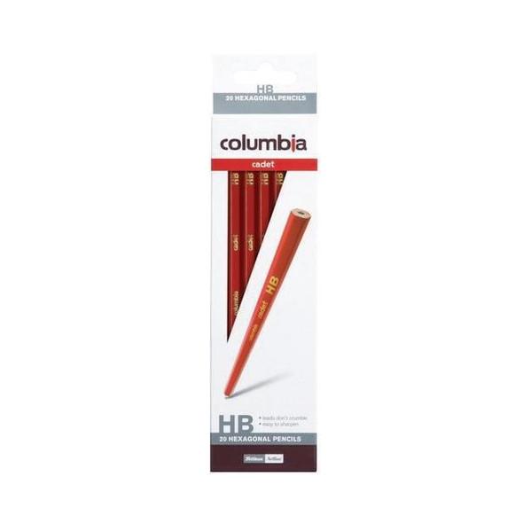 columbia Cadet Lead Pencil Hexagonal HB Pack20 BOX20 61500HHB