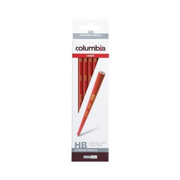 columbia Cadet Lead Pencil Round HB Pack20 BOX20 61500RHB20
